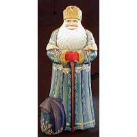 Santa: Blue Coat Figurine