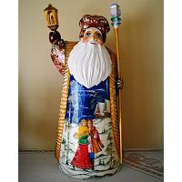Santa: Couple Carved Figurine