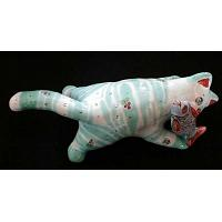 Cat Porcelain Figurine Large