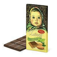 Krasny Oktyabr Milk Chocolate & Almonds Bar