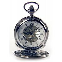 Silver Skeleton Poljot Pocket Watch