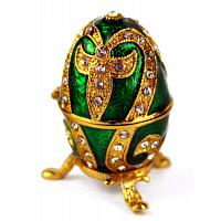 Emerald Lily Faberge Style Egg
