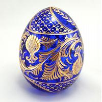 Ornamental Faberge Crystal Egg