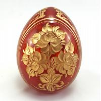 Bouquet Red Faberge Crystal Egg