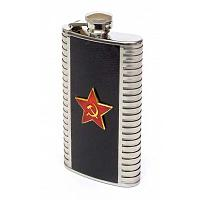 Red Star Vodka Steel Flask
