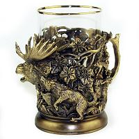 Hunting Tea Glass Holder
