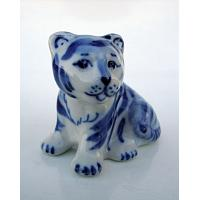 Gzhel Little Tiger Figurine