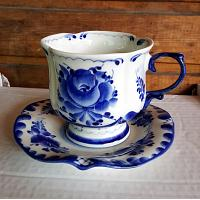 Gzhel Tea Cup Set