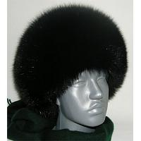 Women's Fox Full Fur Hat Black