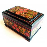 Khokhloma Strawberries Lacquer Box