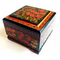 Traditional Khokhloma Lacquer Box