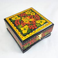 Khokhloma Flowers Jewellery Box