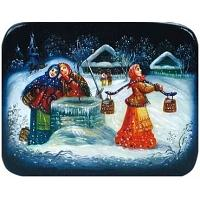 Winter Village Lacquer Box
