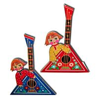 Balalaika Wooden Fridge Magnet