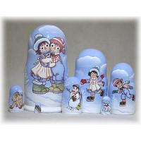 Raggedy Ann & Andy Winter Nesting Doll