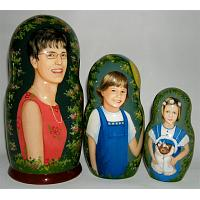 Mom & Kids Custom Matryoshka