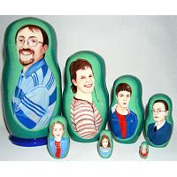 Family Custom Babushka Doll