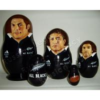All Blacks Custom Nesting Doll