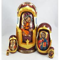 Russian Icons Carved Doll