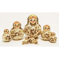 Golden Flowers Matryoshka
