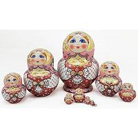 Pink Lace Matryoshka Doll