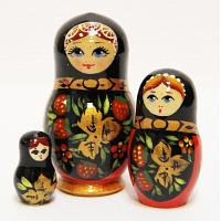 Khokhloma Tiny Stacking Doll