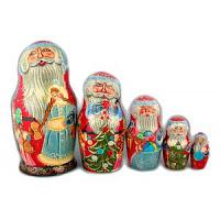 Jolly Santa Babushka Doll