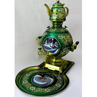Winter Painted Samovar Set