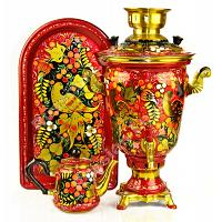Hand Painted Electric Samovar Set