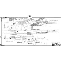 AK-47 Type 3 Signed Blueprint