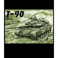 T-90 Tank Russian Cotton T-Shirt
