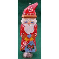 Santa Christmas Ornament with Bell