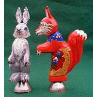 Rabbit / Fox Christmas Ornament
