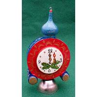 New Year's Clock Ornament with Bell