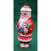 Santa Claus Christmas Ornament with Bell