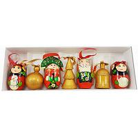 Russian Family Wooden Christmas Ornaments