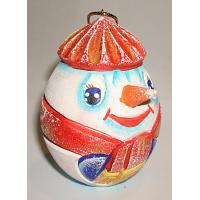 Snowman Wooden Christmas Ornament