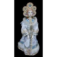Snowmaiden in White Porcelain Doll