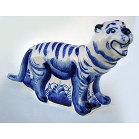 Gzhel Large Tiger Figurine 2