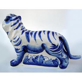 Gzhel Large Tiger Figurine 3