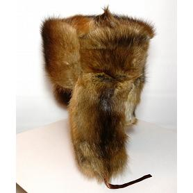 Natural Russian Muskrat Hat 2