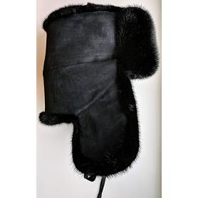 Russian Mink Fur & Suede Hat 2