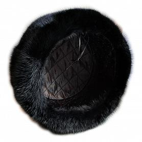 Russian Mink Fur & Suede Hat 3
