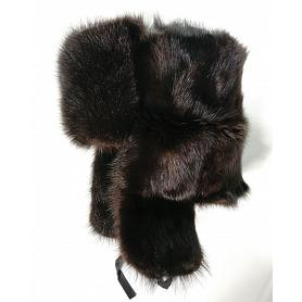 Genuine Muskrat Fur Ushanka Hat 2