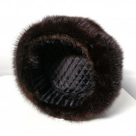 Genuine Muskrat Fur Ushanka Hat 3