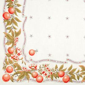 Oranges Pure Linen Tablecloth 2