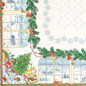Christmas Pure Linen Tablecloth 2