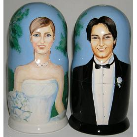 Custom Wholesale Wedding Nesting Doll 3