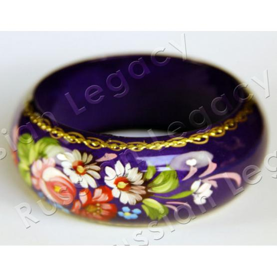 Wooden Hand Painted Bracelet 1