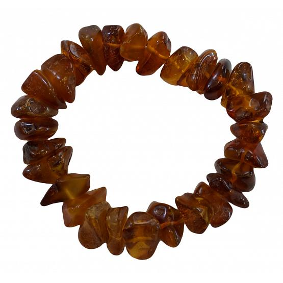 Honey Amber Chip Bracelet